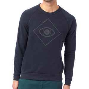 Unisex Slim Fit Eye Fleece Sweatshirt