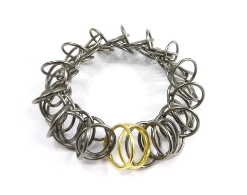 Armband Silber und Gold by Antje Porzig - InJewels Berlin