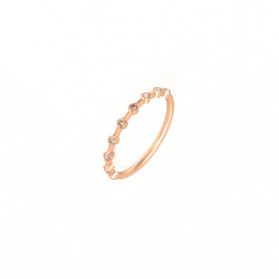 Nine Diamond Verlobungsring in 18 k Roségold