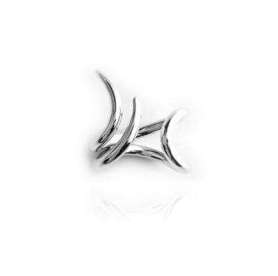 "Silber Ring ""Fluid"" - AETRA Studio - InJewels Berlin"