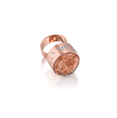 "Roségold Ring ""Great Barrier Reef"" - Meerglanz - InJewels Berlin"
