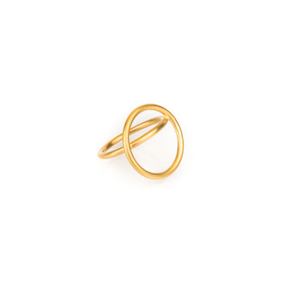 "Gold Ring ""Double Gravity"""