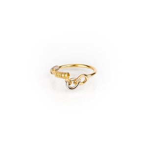 "Tricolor Gold Ring ""Things Happen"""