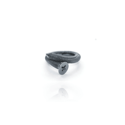 "Silber Ring ""Bent Screw"" - Jac Design - InJewels Berlin"