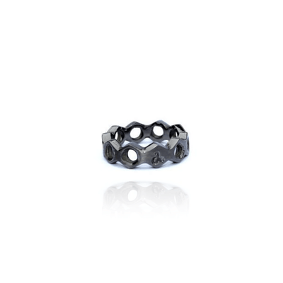 "Silber Ring ""Side-to-Side Nut"" - Jac Design - InJewels Berlin"