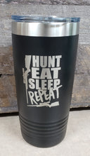 Load image into Gallery viewer, Hunt, Eat, Sleep, Repeat Tumbler - Simply Susan's