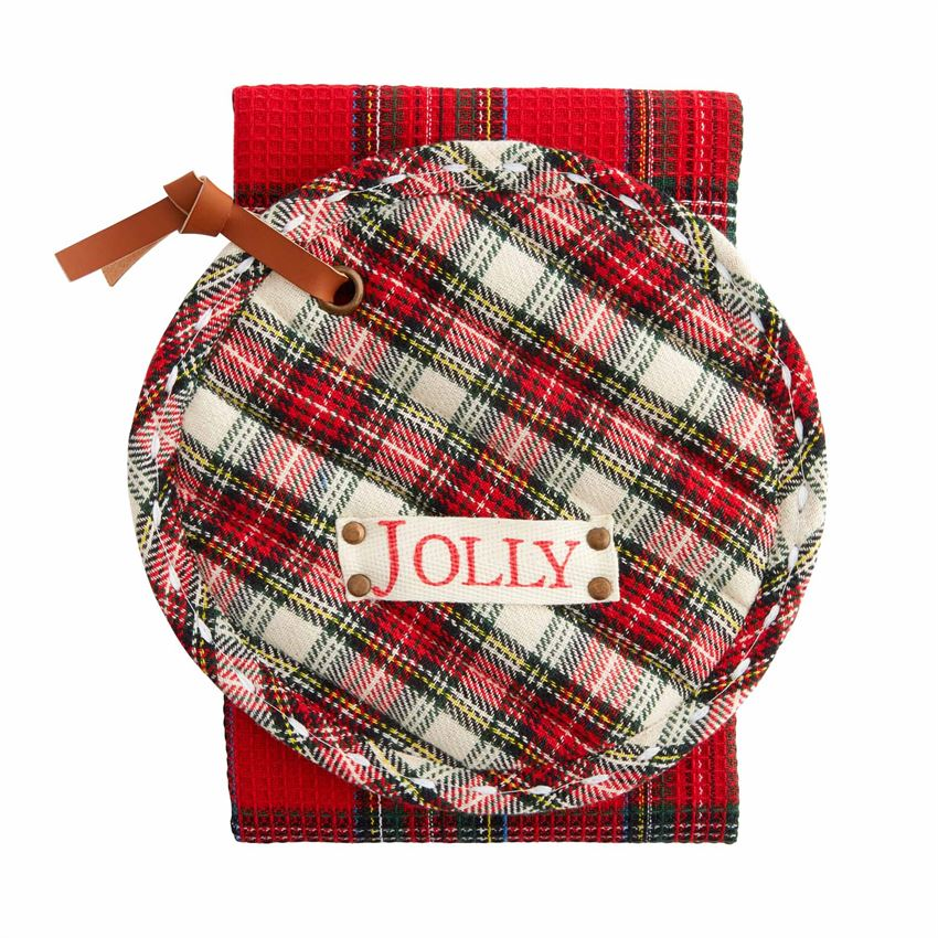 Tartan Pot Holder W Towel