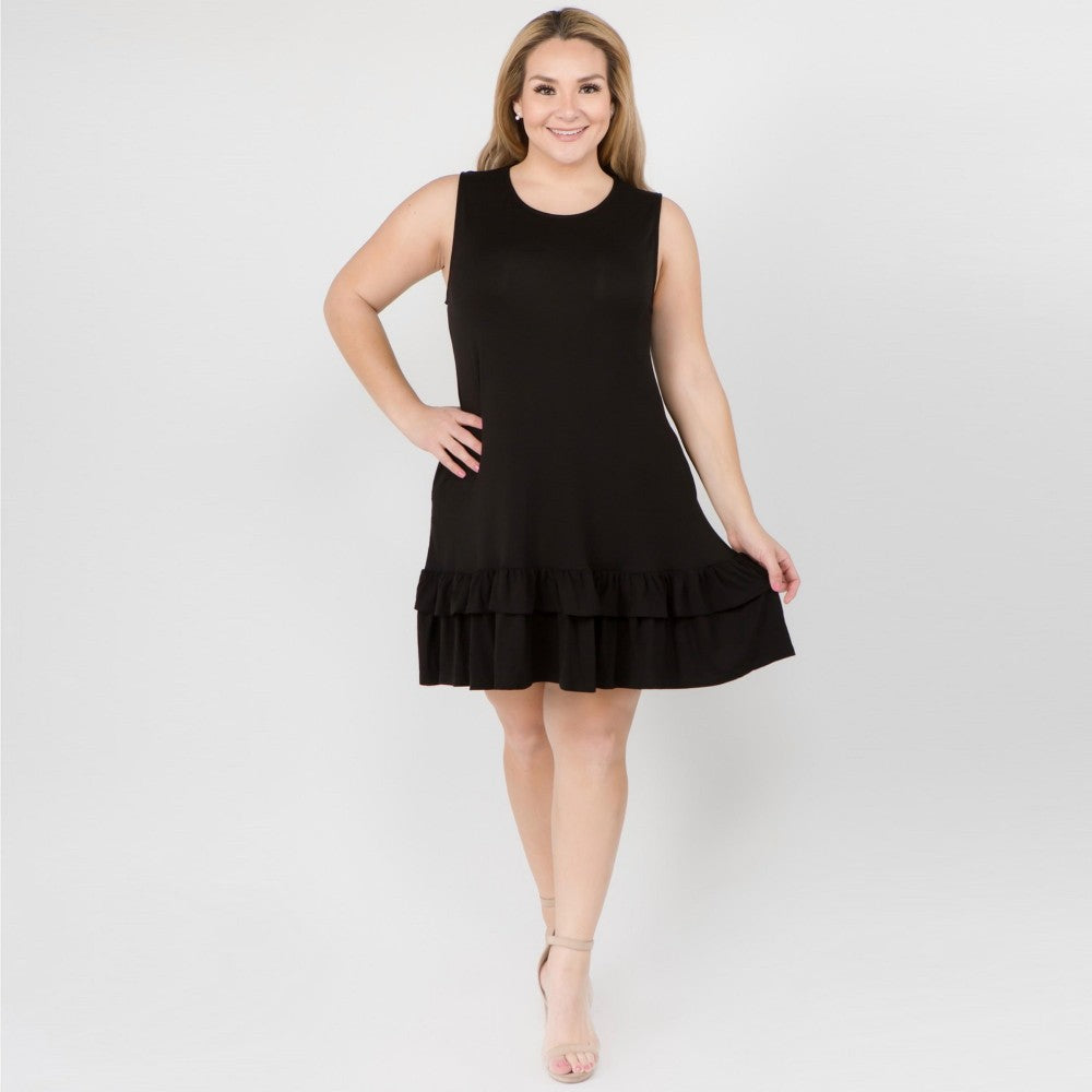 Plus Size Ruffle Pocket Dress.