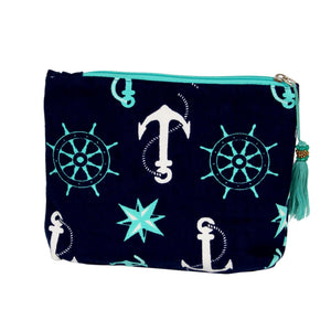 MINT NAUTICAL POUCH