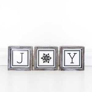 Joy 3pc Sign