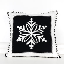 Load image into Gallery viewer, 20X20 Snowflake Reversible Pillow