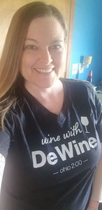 Wine With DeWine Crew Neck T - Simply Susan's