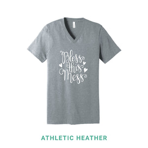 Bless This Mess V Neck T-Shirt - Simply Susan's