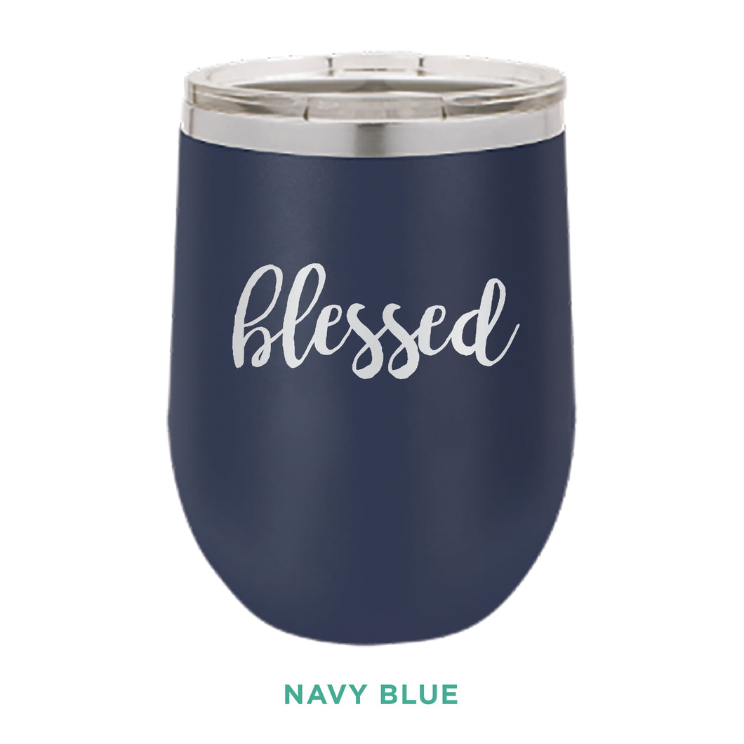 Blessed 12oz Wine Tumbler