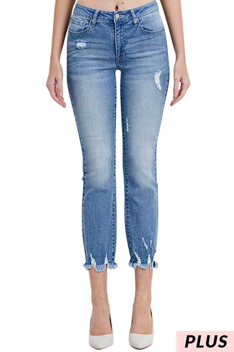 HEATHER CROPPED JEANS PLUS