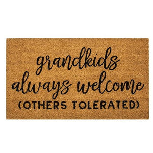 Grandkids Welcome Door Mat