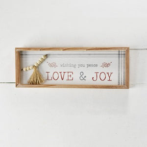 "19"" Love & Joy Christmas Sign"