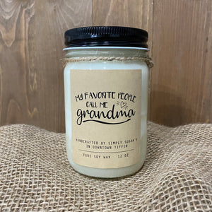My Favorite People Call Me Grandma Candle by Simply Susan's