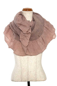 Ruffle Infinity Scarf Pink