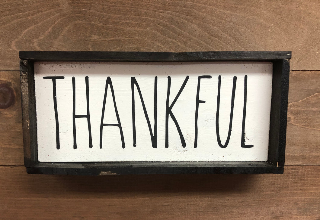4x8 Thankful Handmade Framed Sign - Simply Susan's