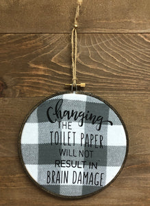 "6"" Handmade Changing The Toilet Paper Hoop - Simply Susan's"