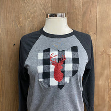 Load image into Gallery viewer, Reindeer Ohio Stitched Baseball T-Shirt