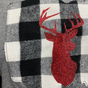 Reindeer Ohio Stitched Baseball T-Shirt