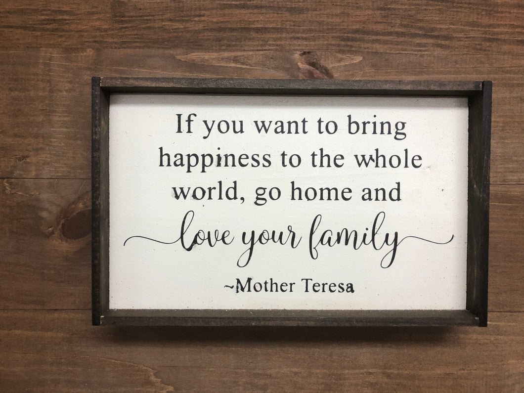 Handmade sign. Mother Teresa, Home decor