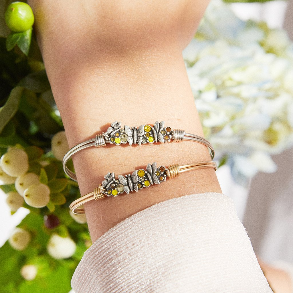 Butterfly Medley Bangle Bracelet - Simply Susan's