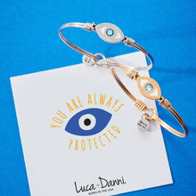 Load image into Gallery viewer, Evil Eye Bangle Bracelet - Simply Susan's