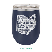 Load image into Gallery viewer, Lake Erie 12oz Wine Tumbler