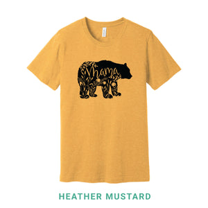Mama Bear Black Print Crew Neck T-Shirt