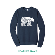 Load image into Gallery viewer, Mama Bear White Print Crewneck Sweatshirt
