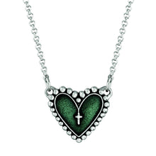 Load image into Gallery viewer, Rosary Heart Necklace