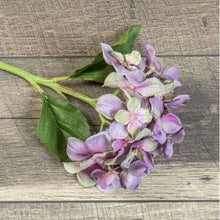 "Load image into Gallery viewer, 15"" Deep Purple Hydrangea Stem - Simply Susan's"