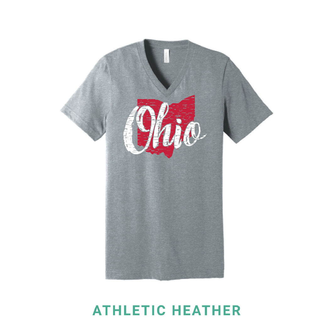 Ohio Script V Neck T-Shirt
