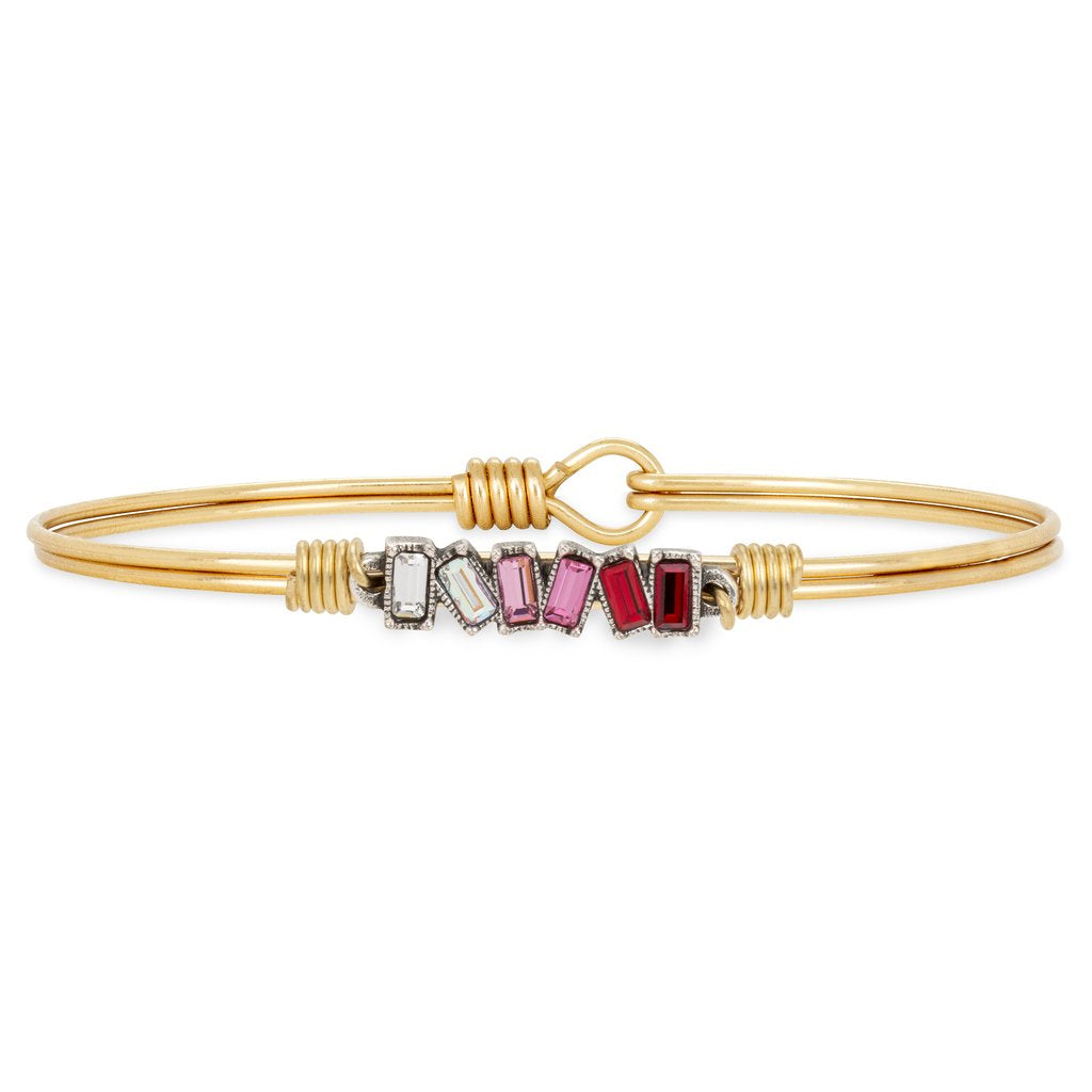 Mini Hudson Bangle Bracelet in Love Ombre STC849 - Simply Susan's