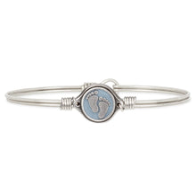 Load image into Gallery viewer, Little Footsteps Bangle Bracelet in Blue - Simply Susan's
