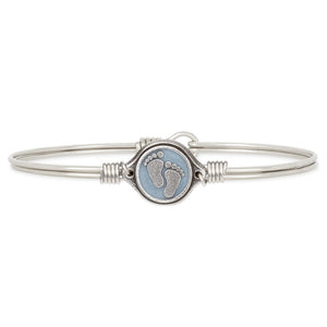 Little Footsteps Bangle Bracelet in Blue - Simply Susan's