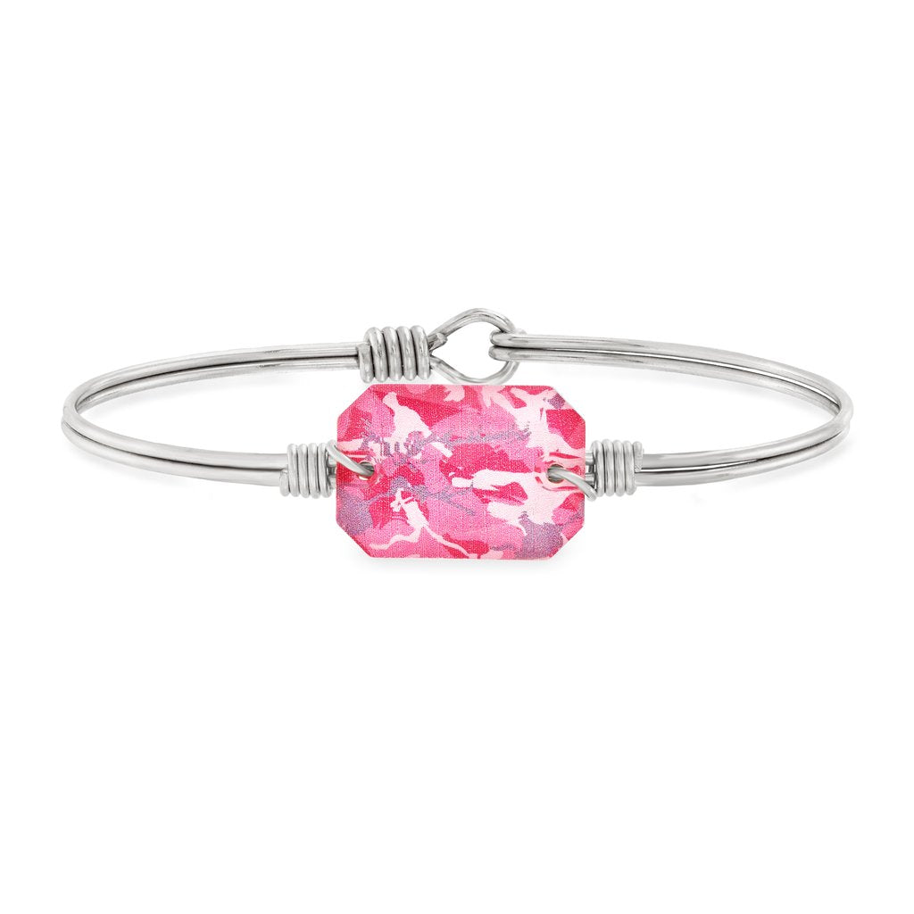 Dylan Bangle Bracelet in Pink Camo - Simply Susan's