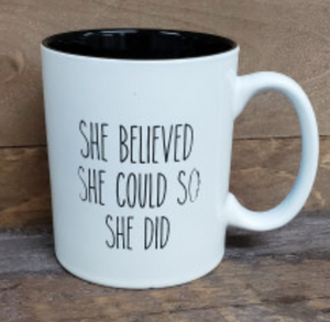 She Believed She Could Mug - Simply Susan's