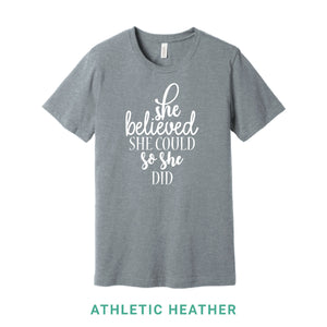 She Believed She Could Crew Neck T-Shirt