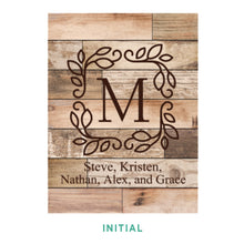 Load image into Gallery viewer, Personalized Light Faux Wood Plaque