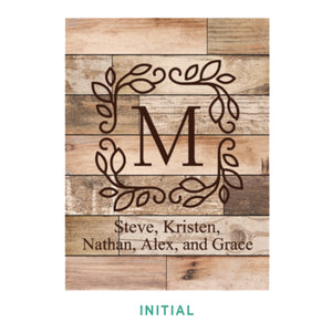 Personalized Light Faux Wood Plaque