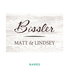 Load image into Gallery viewer, Personalized White Woodgrain Sign - Small