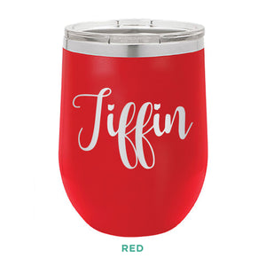 Tiffin Script 12oz Wine Tumbler