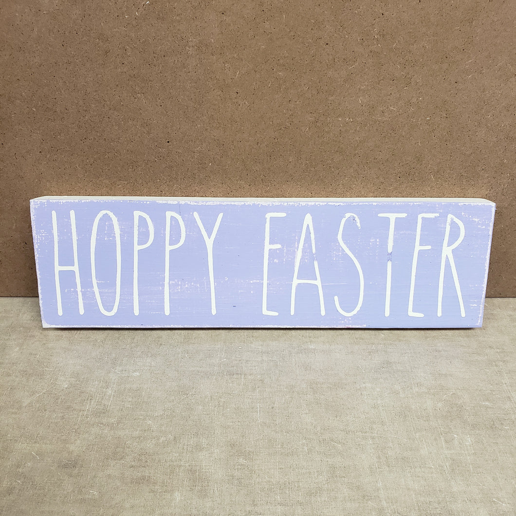 4x12 Hoppy Easter Sign Handmade Purple - Simply Susan's