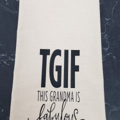 TGIF Tea Towel - Simply Susan's