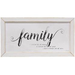 Family Framed Print, White Frame
