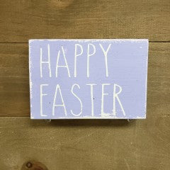 3x5 Happy Easter Purple Sign - Simply Susan's
